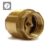 """Латунный обратный клапан 1 1/4"""" с металлическим седлом"""