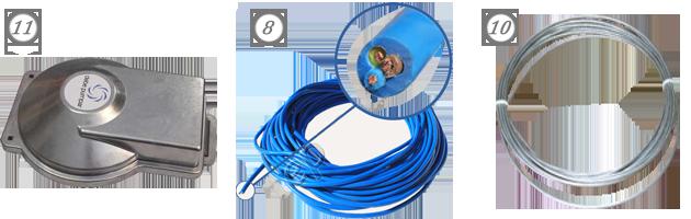 Скважинная крышка, кабель, страховочный трос