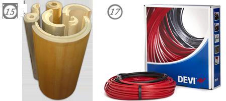 Утеплитель для труб и греющий кабель